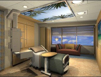 design of Sidra Patient room